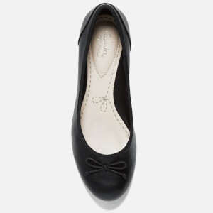 Clarks Women's Couture Bloom Leather Ballet Flats - Black: Image 3