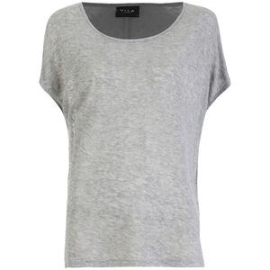 VILA Women's Visumi Short Sleeve Top - Light Grey Melange