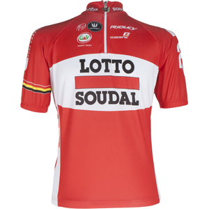 Lotto Soudal Short Sleeve Jersey 2016 - Red/White