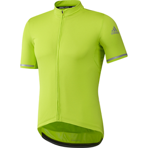 adidas Climachill Short Sleeve Jersey - Semi Solar Slime