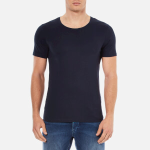 Selected Homme Men's Dave Pima Short Sleeve Cotton T-Shirt - Night Sky