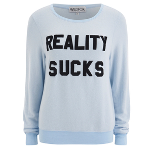 Wildfox Women's Reality Sucks Baggy Beach Jumper - Jacuzzi
