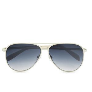 Calvin Klein Platinum Unisex Aviator Sunglasses - Ivory