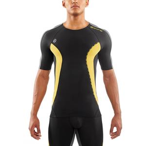 Skins DNAmic Men's Short Sleeve Top - Black/Citron