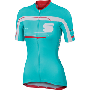Sportful Gruppetto Women's Short Sleeve Jersey - Blue/White/Pink