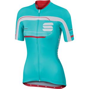 Sportful Gruppetto Women's Short Sleeve Jersey - Blue/White/Pink