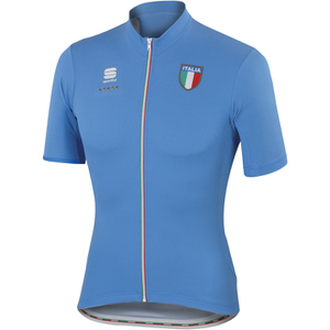 Sportful Italia CL Short Sleeve Jersey - Blue