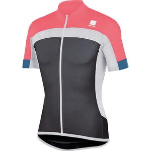 Sportful Pista Short Sleeve Jersey - Grey/White/Pink