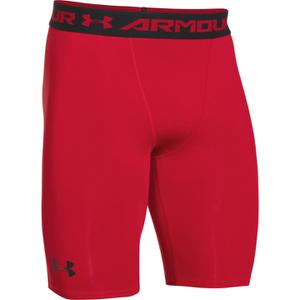 Under Armour Men's HeatGear Long Compression Shorts - Red/Black