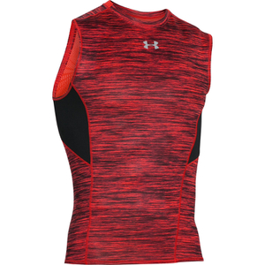 Under Armour Men's HeatGear CoolSwitch Compression Tank Top - Red