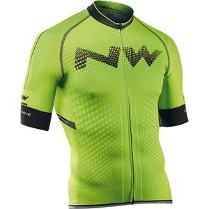 Northwave Extreme Full Zip Short Sleeve Jersey - Green Fluo