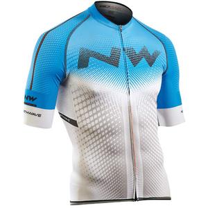 Northwave Extreme Full Zip Short Sleeve Jersey - Blue