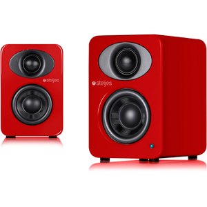 Haut-Parleurs Duo Bluetooth Steljes Audio NS1 -Rouge Vermillon