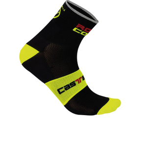 Castelli Rosso Corsa 13 Cycling Socks - Black/Yellow
