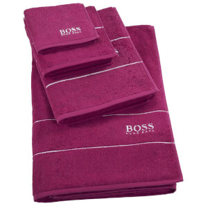 Hugo BOSS Plain Towel Range - Azalea