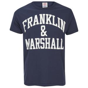Franklin & Marshall Men's Large Logo T-Shirt - Navy