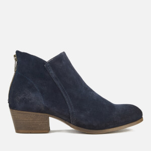 Hudson London Women's Apisi Suede Heeled Ankle Boots - Navy