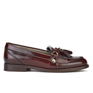 H Shoes by Hudson Women's Britta Hi Shine Tassle Loafers - Bordo