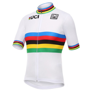 Santini UCI World Road Champion Short Sleeve Jersey - White