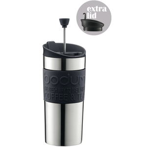 Bodum Travel Press Set Coffee Maker with Extra Lid - Black