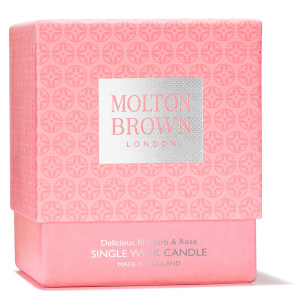 Molton Brown Rhubarb and Rose Single Wick Candle 180g: Image 3