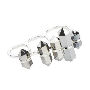 Cheap Monday Women's Go To Sleep 3 Ring - Hematite