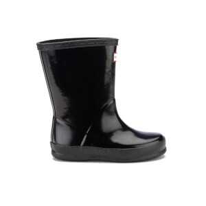 Hunter Toddler's First Gloss Wellies - Black