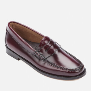 Bass Weejuns Women's Penny Leather Loafers - Wine: Image 2