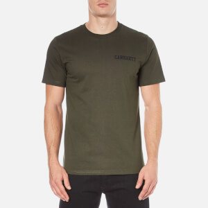 Carhartt Men's Short Sleeve College Script T-Shirt - Cypress/Black