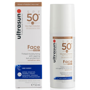 Ultrasun SPF50+ Tinted Face Sun Cream (Various Shades): Image 2