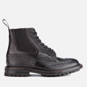 Tricker's Men's Ellis Leather/Scotch Grain Commando Sole Lace Up Boots - Black