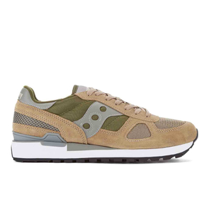 Saucony Men's Shadow Original Trainers - Taupe/Green