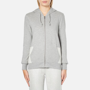 Converse Women's All Star Metallic Full Zip Hoody - Vintage Grey Heather