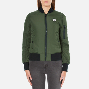 Converse Women's All Star Core Reversible MA-1 Bomber Jacket - Herbal