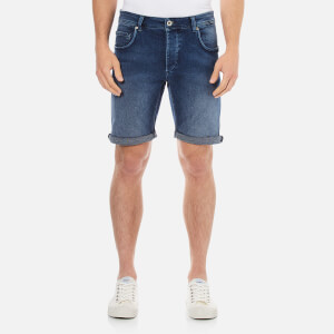 Selected Homme Men's Npep Denim Shorts - Dark Blue Denim