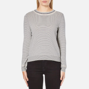 A.P.C. Women's Flynn Striped Neck Detail Jumper - Stripe