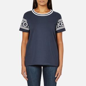 KENZO Women's Strip Logo Sleeve T-Shirt - Midnight Blue