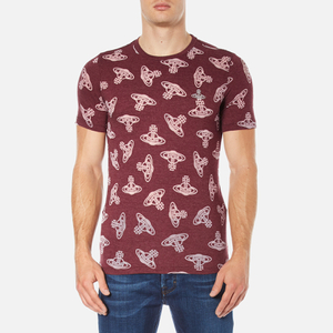 Vivienne Westwood Anglomania Men's Time Machine T-Shirt - Burgundy