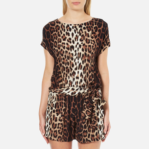 Boutique Moschino Women's Tie Waist Playsuit - Leopard