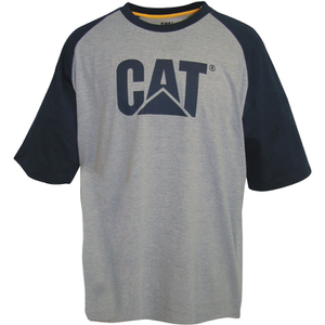 Caterpillar Men's Raglan Trademark T-Shirt - Grey