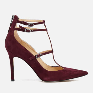 Sam Edelman Women's Hayes Suede T Bar Court Shoes - Port Wine