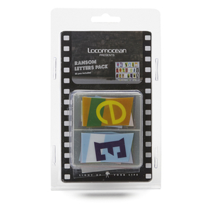 A4 Cinematic Lightbox Letters Pack - Ransom: Image 3