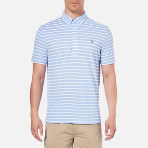 Polo Ralph Lauren Stripe Cotton Polo Shirt - Blue/White