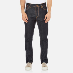 Nudie Jeans Men's Brute Knut Regular/Tapered Fit Jeans - Dry Navy Comfort