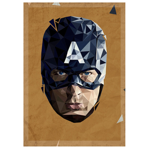 In Pieces' - Captain America inspired artwork Print - 14 x 11 Inches