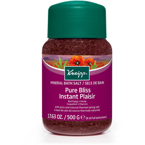 Kneipp Pure Bliss Red Poppy and Hemp Bath Salts - 500g
