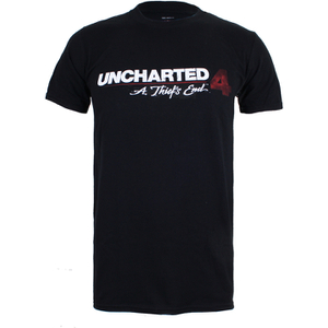 Unchartered 4 Logo Heren T-Shirt - Zwart