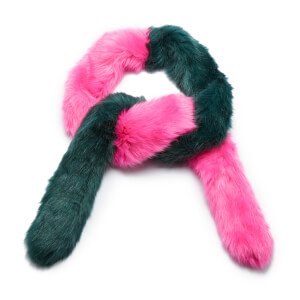 Charlotte Simone Women's Candy Cane - Forest Green/Flourescent Pink