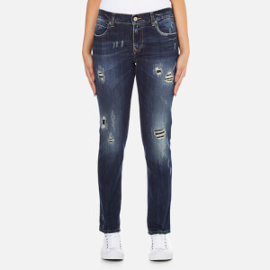 Vivienne Westwood Anglomania Women's New Billy Organic Jeans - Distressed Blue