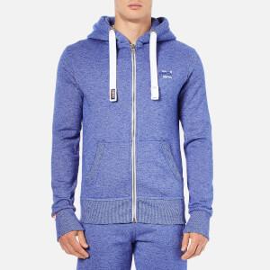 Superdry Men's Orange Label Cali Zip Hoody - Mazarine Blue Mega Grit